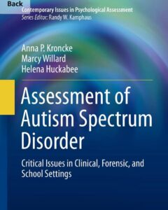 ebook cover assessment of autism spectrum disorder